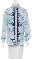 Emilio Pucci Printed Long Sleeve Blouse