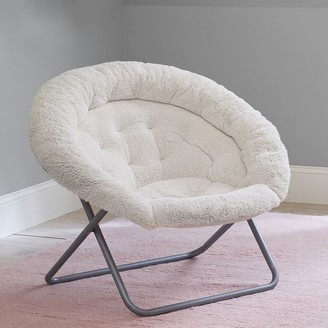 Pottery Barn Teen Sherpa Ivory Hang-A-Round Chair