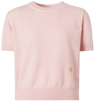 Burberry Cashmere-Silk Short-Sleeved Sweater
