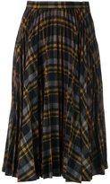 Maison Margiela checked pleated skirt - women - Wool - 42