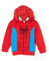 Children's Apparel Network Red Spider-Man Knit Zip-Up Hoodie - Toddler