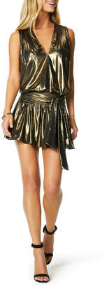 Ramy Brook Vega Sleeveless Metallic Cocktail Dress