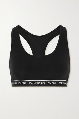 Calvin Klein Underwear Ck One Stretch-jersey Soft-cup Bra - Black