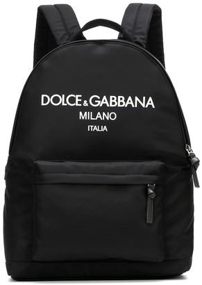 Dolce & Gabbana Kids Logo nylon backpack