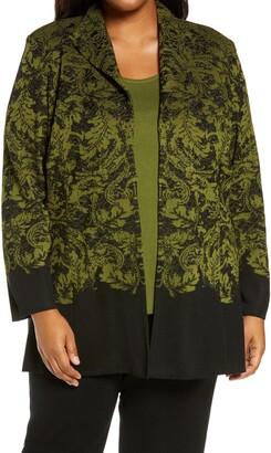 Ming Wang Pattern Knit Jacket