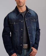 Stetson Blue Denim Camo-Panel Jacket - Men's Regular