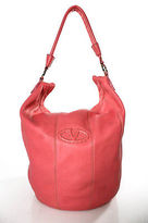 Valentino Garavani Coral Pink Leather Single Strap Large Shoulder Handbag