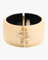 Alexis Bittar Large Golden Studded Hinge Bracelet