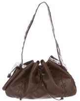 Nancy Gonzalez Crocodile-Trimmed Drawstring Hobo