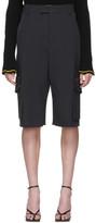 Bottega Veneta Black Cargo Shorts