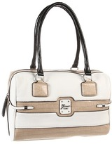 GUESS Sonnet Box Satchel (White Multi) - Bags and Luggage