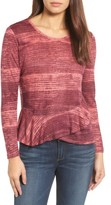 Lucky Brand Women's Printed Ruffle Top