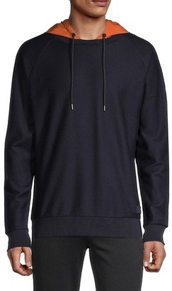 HUGO BOSS Long-Sleeve Cotton-Blend Jacket