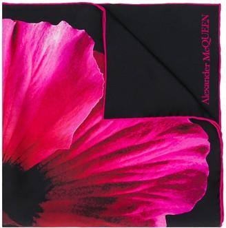 Alexander McQueen Floral Scarf