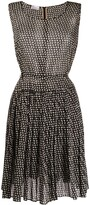 Valentino Pre Owned 1990s bow print flared dress