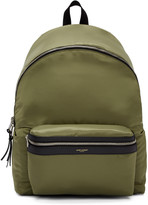Saint Laurent Green Canvas Backpack