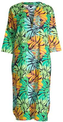 Vilebrequin Fare Tropical Leaf-Print Midi Coverall