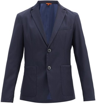Barena Borgo Wool-herringbone Jacket - Navy