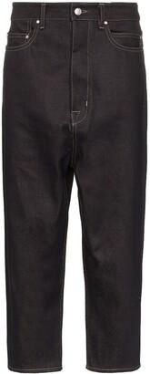 Rick Owens Drop Crotch Cropped Jeans