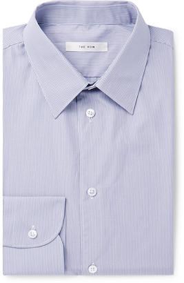 The Row Grey Jasper Slim-Fit Striped Cotton-Poplin Shirt