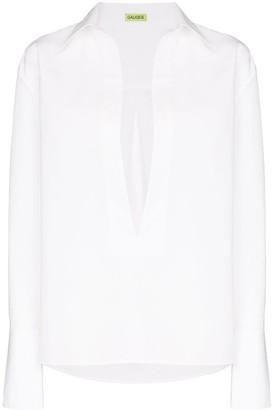 GAUGE81 Serena deep V-neck shirt