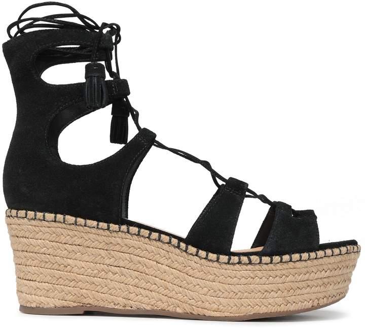 cbf094c53f4 Tasseled Suede Platform Espadrille Sandals