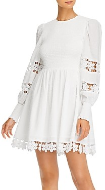 Aqua Smocked Lace Trim Mini Dress - 100% Exclusive