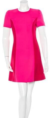Versace Silk Colorblock Dress