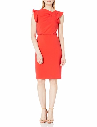 Halston Women's Asymmetric Neck Dress