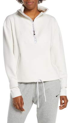 Nike Pro Dri-FIT Fleece Crop Half Zip Top