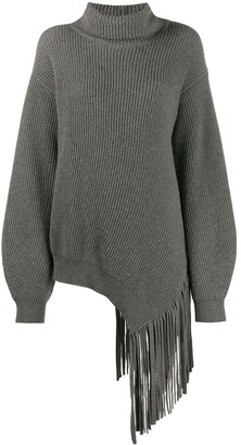 Stella McCartney Fringed Rib-Knit Jumper
