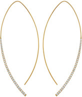 Lana 14k Pave Diamond Electric Arch Earrings
