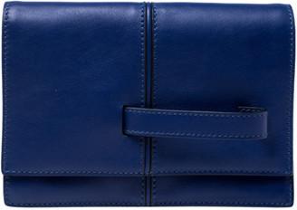Valentino Blue Leather MOC Clutch