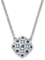 Judith Ripka Sterling Silver La Petite Snowflake Pendant Necklace with Sapphire, 17""