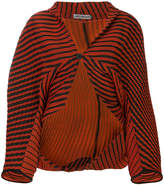 Issey Miyake striped cropped jacket