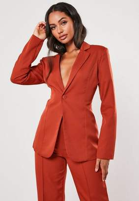 Missguided Red Co Ord Skinny Classic Blazer