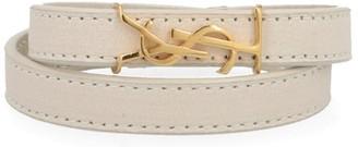 Saint Laurent Monogram Wrap Bracelet