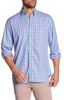 Tailorbyrd Long Sleeve Checkered Print Trim Fit Woven Shirt (Big & Tall Available)