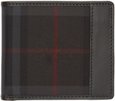 Burberry Black Check Logo Wallet