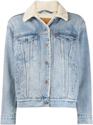 Levi's Faux Shearling Lined Denim Jacket