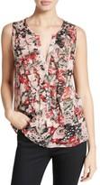 Joie Women's Effa Floral Silk Ruffle Front Shell