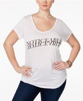 SLINK Jeans Trendy Plus Size Graphic T-Shirt