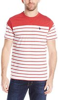 U.S. Polo Assn. Men's Solid and Stripe Round-Neck T-Shirt