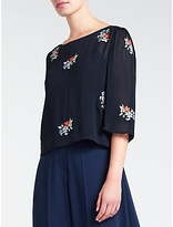 Somerset by Alice Temperley Embroidered Top, Navy
