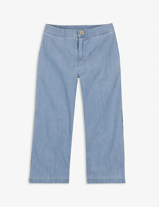 Gucci Striped wide-leg denim trousers 6-12 years