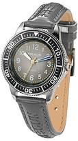 Freegun ee5183 – Boys 'Watch – Analogue Quartz – Grey Dial – Grey Leather Strap