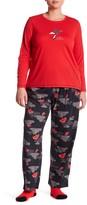 Hue Paws Parasols 3-Piece Pajama Set (Plus Size)