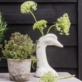 Graham and Green Swan Head Vase