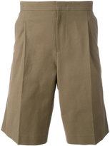 Plac pleat detail shorts - men - Cotton/Polyurethane/Rayon - L