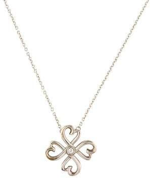 Tiffany & Co. Diamond Loving Heart Pendant Necklace